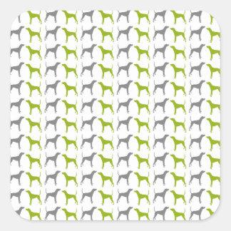 Plott Hound Pattern Quadratischer Aufkleber