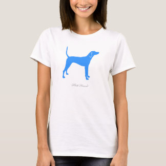 Plott Jagdhund-T - Shirt (blaue Silhouette)