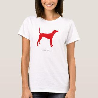 Plott Jagdhund-T - Shirt (rote Silhouette)