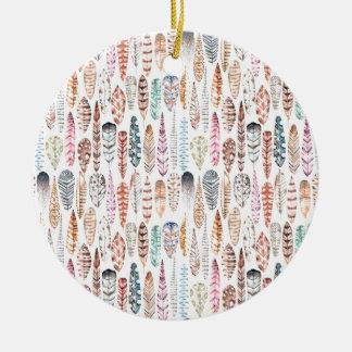 plumas7 keramik ornament