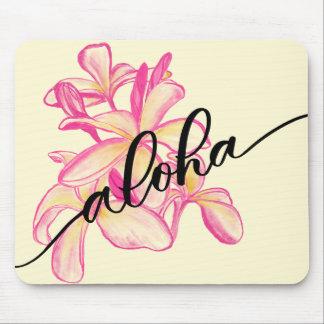 Plumeria Aloha Flower Mousepad for Home or Office