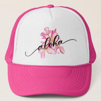 Plumeria Aloha Trucker Hat