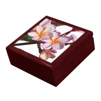 Plumeria-Blumen-Geschenkboxen Schmuckschachtel