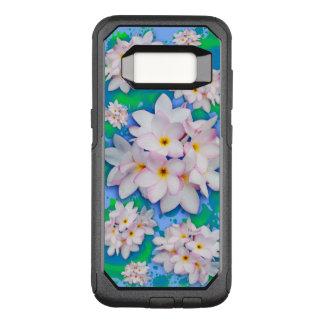 Plumeria-Blumenstrauß-exotisches Sommer-Muster OtterBox Commuter Samsung Galaxy S8 Hülle