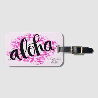 Plumeria-Leu-Aloha Gepäckanhänger