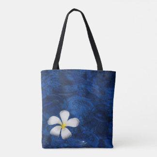 Plumeria-weiße Blumen-mit Blumengemustertes Tasche