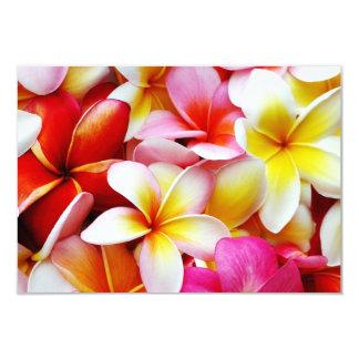 Plumeriafrangipani-Hawaii-Blume besonders 8,9 X 12,7 Cm Einladungskarte