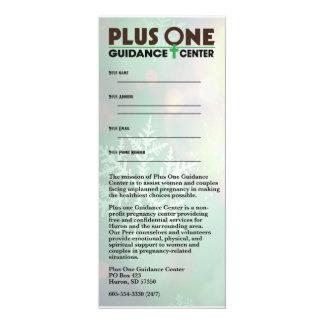 Plus eine Schneeflocke-Gestell-Karte 10,2 X 23,5 Cm Einladungskarte