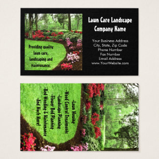Plüsch-grünes Landschaftsrasen-Sorgfalt-Geschäft Visitenkarte