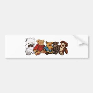 Plüschtiere, Teddybären, ölen Pastellkunst Autoaufkleber