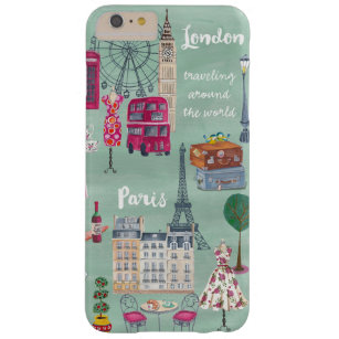 Plusfall Reisekarte Londons Paris   Iphone 6 Barely There iPhone 6 Plus Hülle