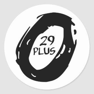 Plusmountsin 29 Fahrradrad Runder Aufkleber