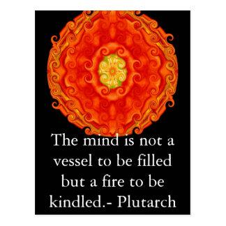 Plutarch Zitat-Bildungs-Lehrerlernen Postkarte