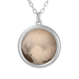 Pluto Herz-Ansicht Versilberte Kette