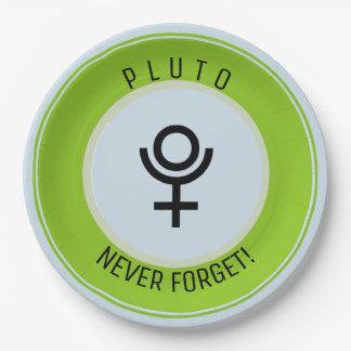 Pluto, vergessen nie pappteller
