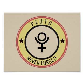 Pluto, vergessen nie poster