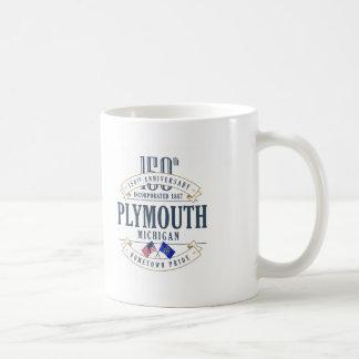 Plymouth, 150. Jahrestags-Tasse Michigans Kaffeetasse