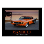 Plymouth 1971 Hemi Cuda - Muskel-Auto Poster