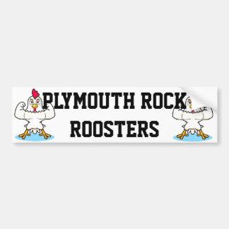 Plymouth-Felsen-Hahn-Autoaufkleber Autoaufkleber