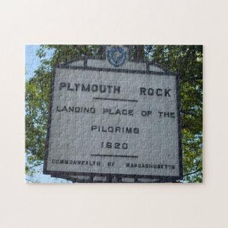 Plymouth-Felsen-Zeichen-Puzzle mit Geschenkboxen Puzzle