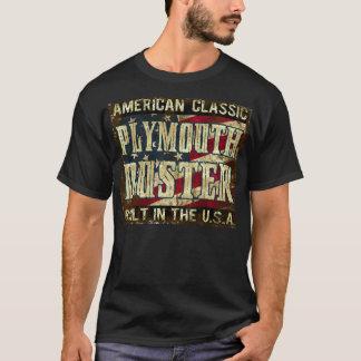 Plymouth-Staubtuch - klassisches Auto errichtet in T-Shirt
