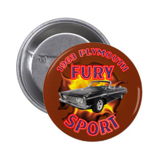 Plymouth-Wut-Sport-Knopf 1963 Runder Button 5,7 Cm