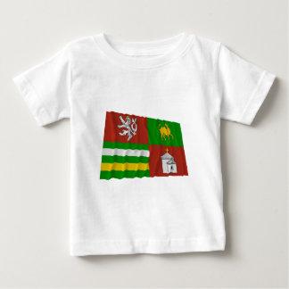 Plzen wellenartig bewegende Flagge Baby T-shirt