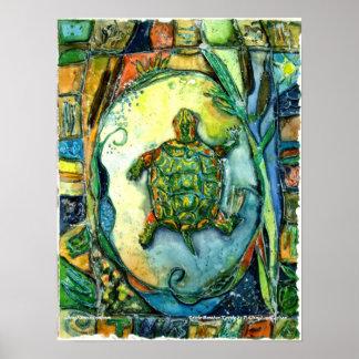 PMACarlson kleiner Bruder-Schildkröte-Plakat Poster