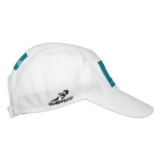 PMO-Strick Leistungs-Hut, weißes Grün Headsweats Kappe