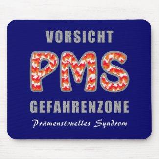 PMS - Prämenstruelles Syndrom | Mousepad (Vorsicht PMS - Gefahrenzone)
