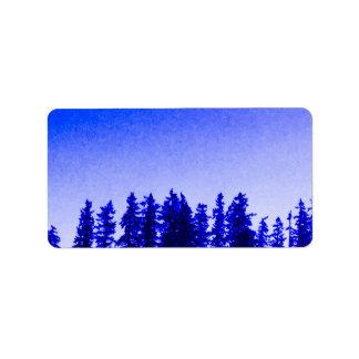PNW Baum-(lila) Adressen-Etiketten Adressaufkleber