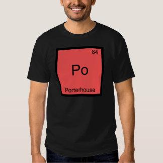 PO - Porterhouse-lustiges Chemie-Element-Symbol Shirts