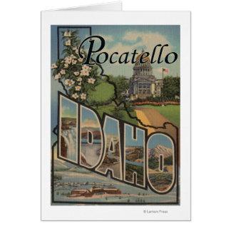 Pocatello, Idaho - große Buchstabe-Szenen Karte