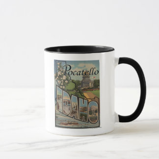 Pocatello, Idaho - große Buchstabe-Szenen Tasse