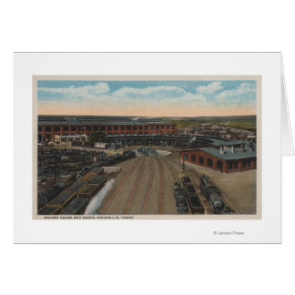 Pocatello, Identifikation - Zug-Depot-rundes Haus Karte