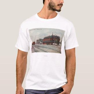 Pocatello, Identifikation - Züge u. Leute um Zug T-Shirt