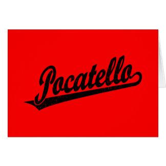 Pocatello Skriptlogo im Schwarzen beunruhigt Karte
