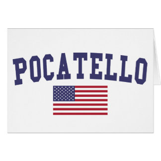 Pocatello US Flagge Karte