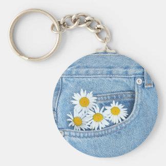 Pocketful Gänseblümchen Schlüsselanhänger