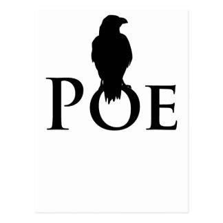 Poe Edgar Allan Poe und der Rabe Postkarte