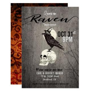 Poe-Raben-Halloween-Party-Einladung 8,9 X 12,7 Cm Einladungskarte