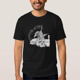 Poe Raben-Schädel u. Buch nie wieder Hemd