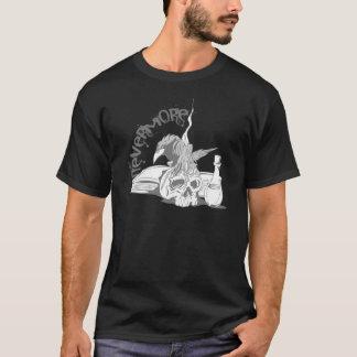 Poe Raben-Schädel u. Buch nie wieder T-Shirt