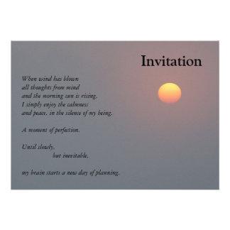 Poesie - aufgehende Sonne Personalisierte Ankündigungskarten