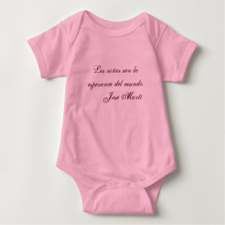 Poesie-Babykleidung 1 (Rosa) Jose Marti Babybody