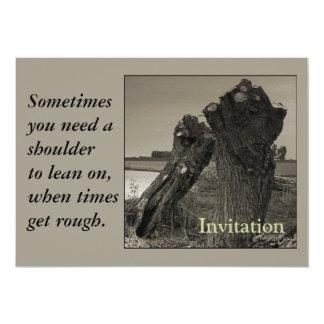 Poesie - Freundschaft Personalisierte Einladungskarten