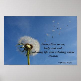 Poesie-Leben in mir Poster