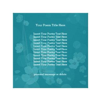 Poesie-Schablonen-Blumenhintergrund, Leinwanddruck