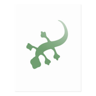 Poetica Gecko im Grün Postkarte