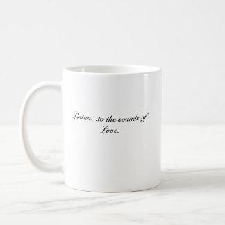Poetsheart0001, hören… zu den Tönen der Liebe Kaffeetasse